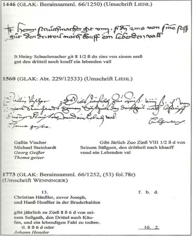 alter Kaufvertrag des Henslerhofes