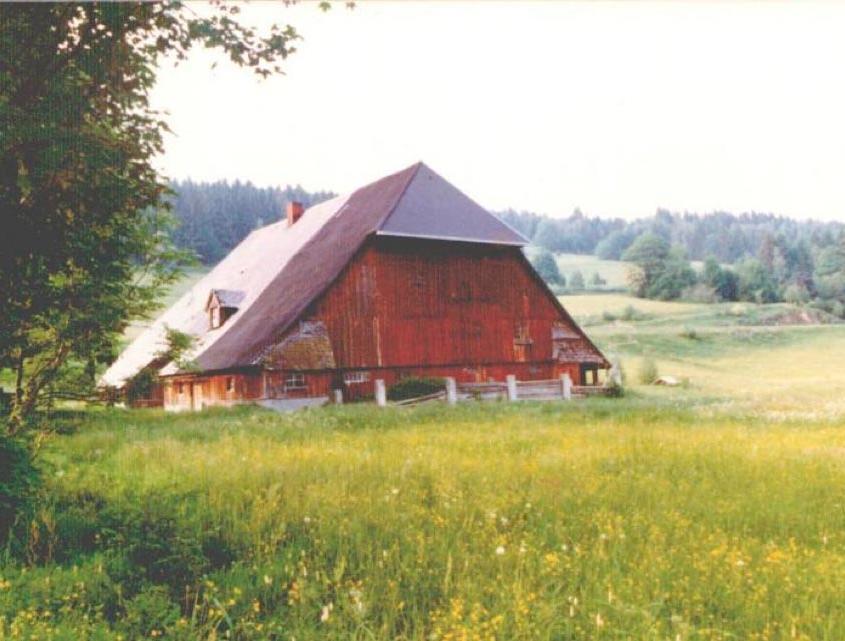 Der Henslerhof im Sommer vor der Sanierung